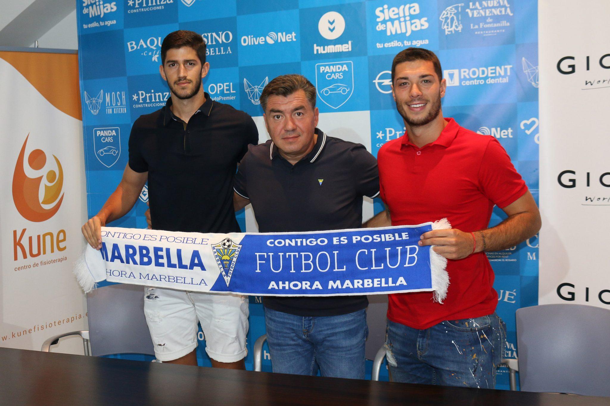 Presentan a Sillero y Godino, nuevos jugadores del Marbella FC