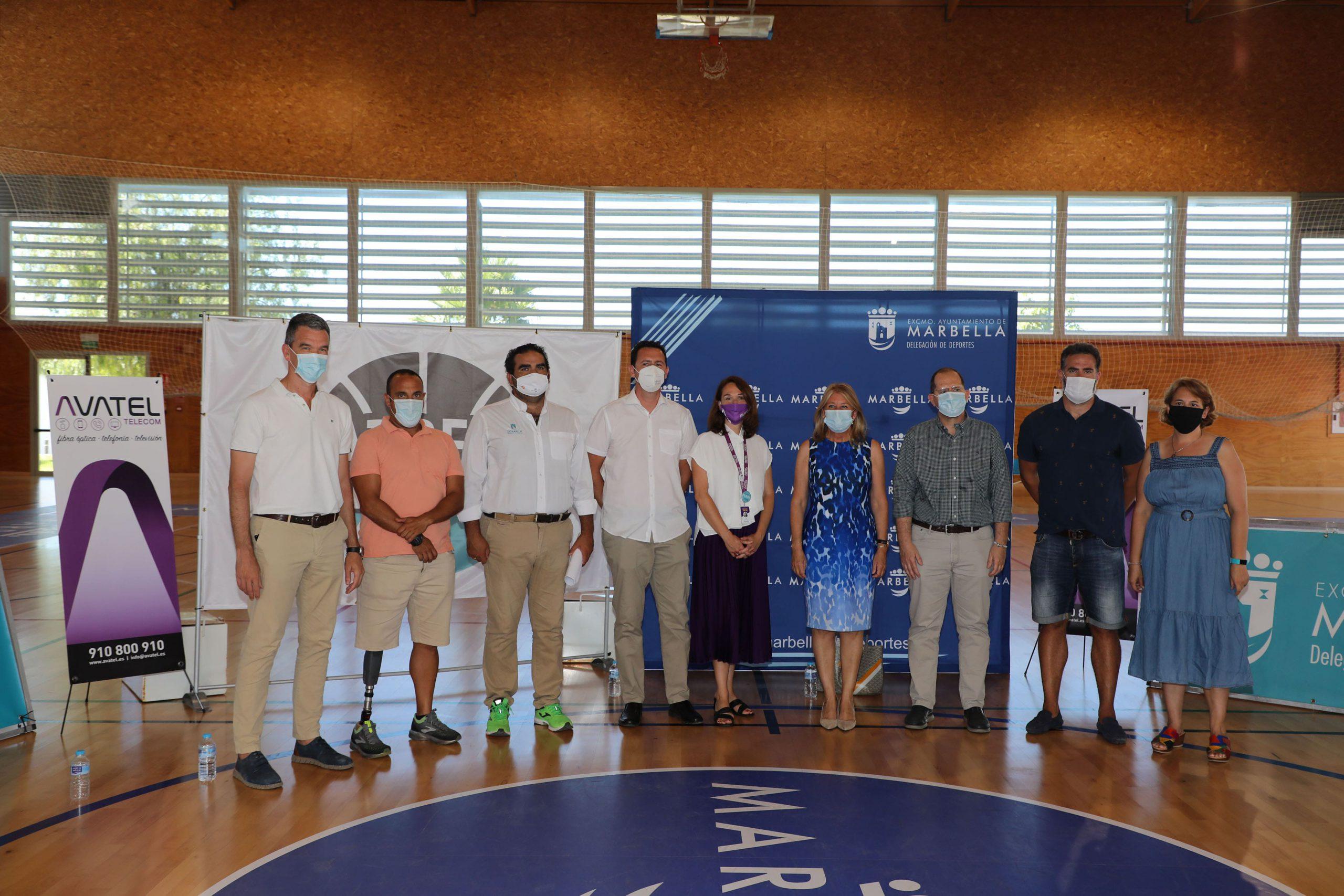 Presentan, en el Pabellón Carlos Cabezas, el Club Deportivo Marbella Basket