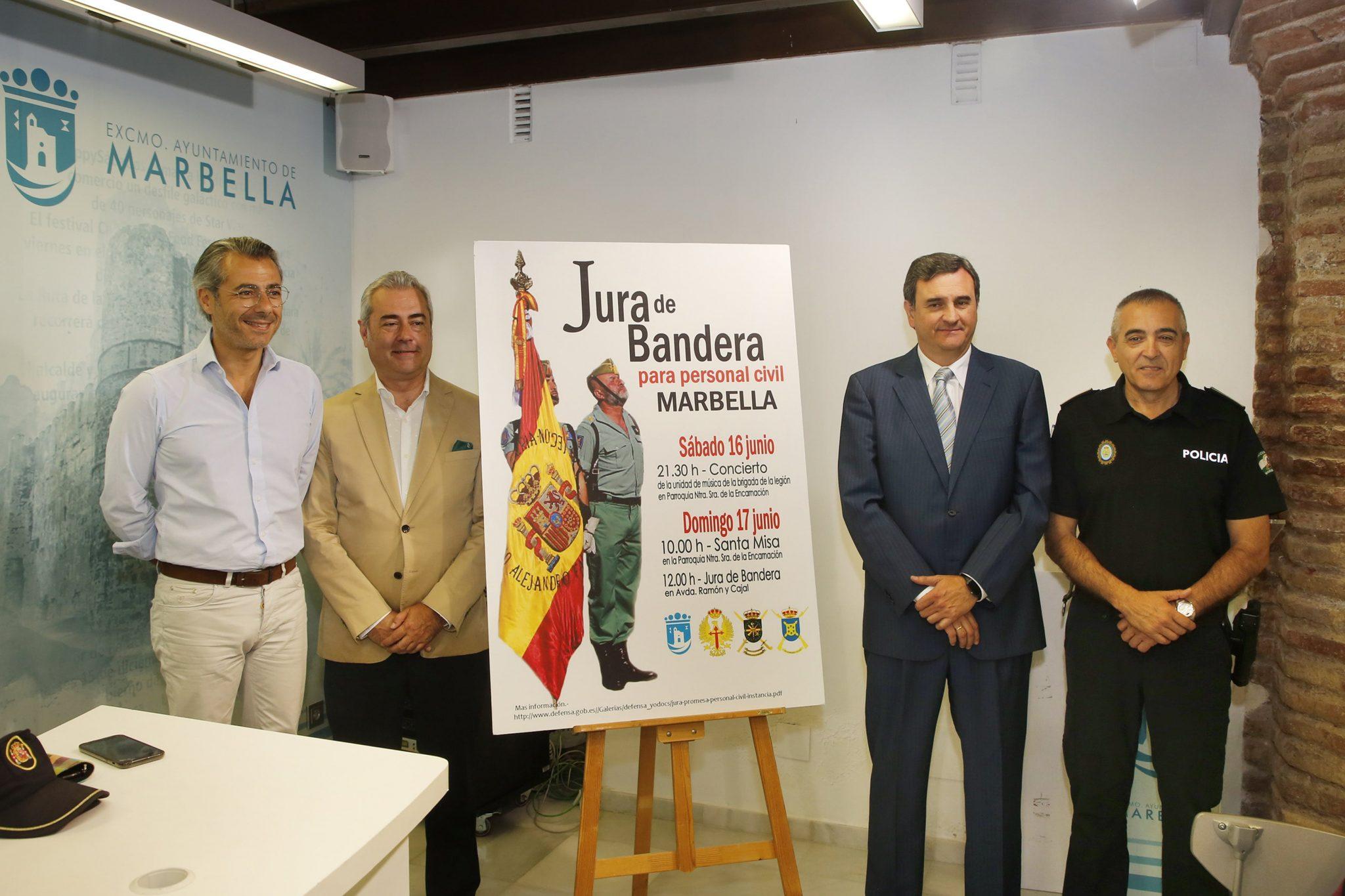 Se prevé la participación de 700 personas en la primera Jura de Bandera Civil en Marbella