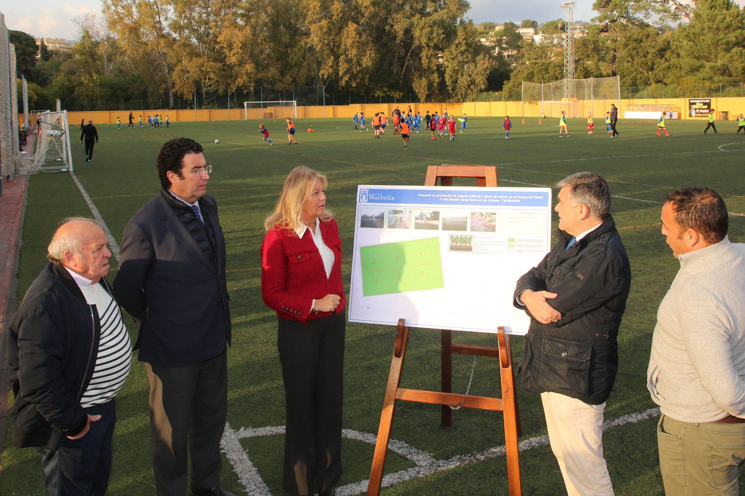 Se sustituirá el césped artificial y habrá obras de mejora en el Campo de Fútbol 11 del Estadio Santa María de Las Chapas