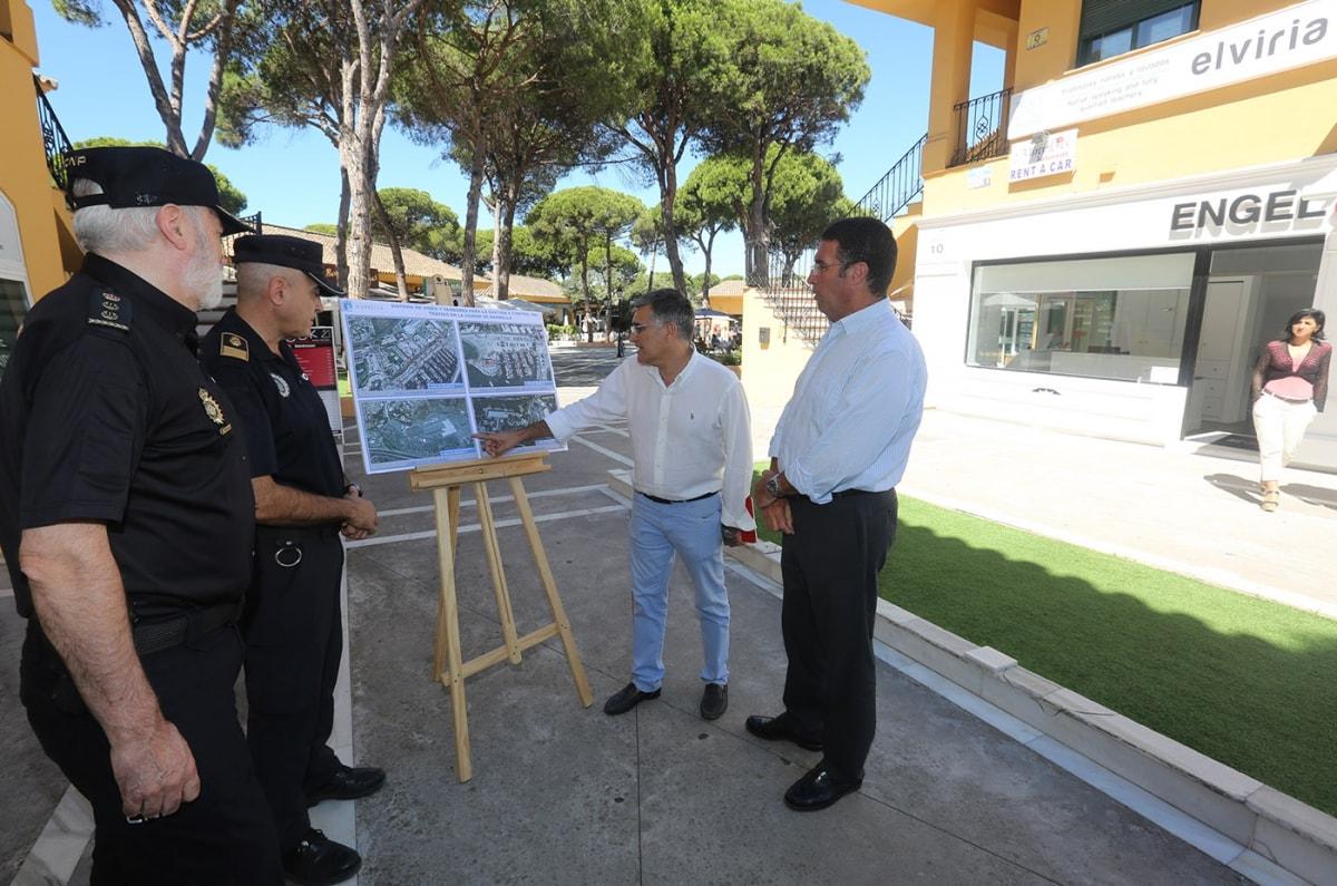 Comienzan los trabajos de instalación de la primera fase del sistema de videovigilancia en Marbella