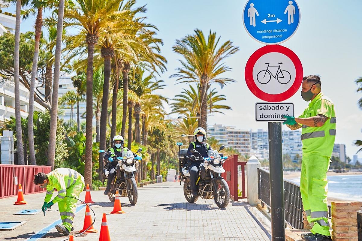 Suprimen desde este fin de semana la ruta alternativa para ciclistas habilitada durante la desescalada