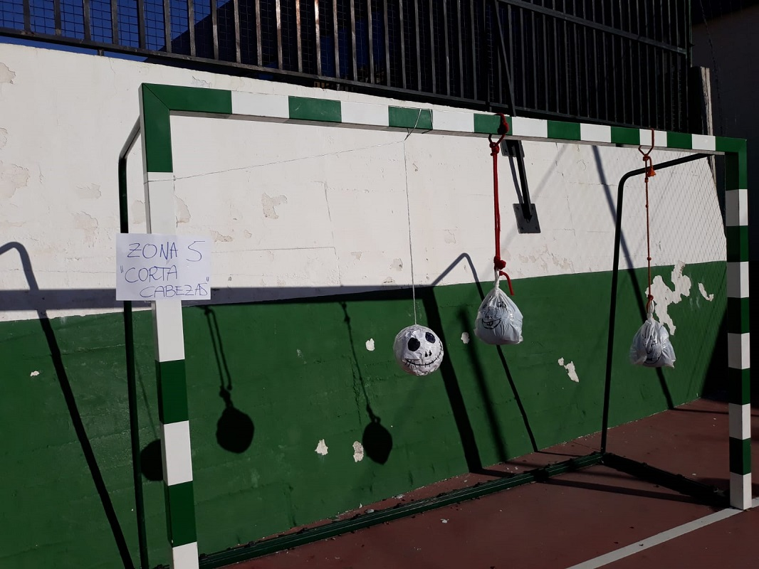 Terrorífica y original gymkana de Halloween en el Colegio Los Olivos