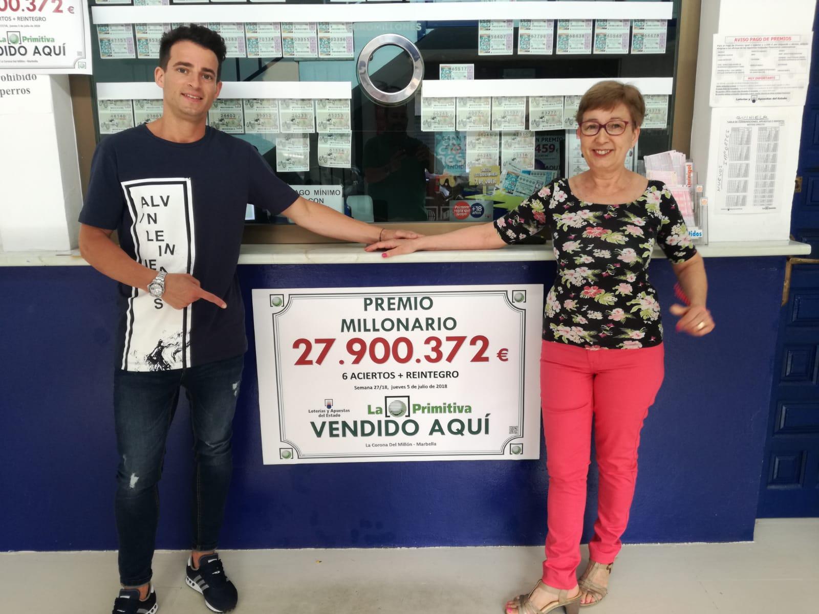 Un boleto sellado en Marbella es agraciado con 28 millones de euros