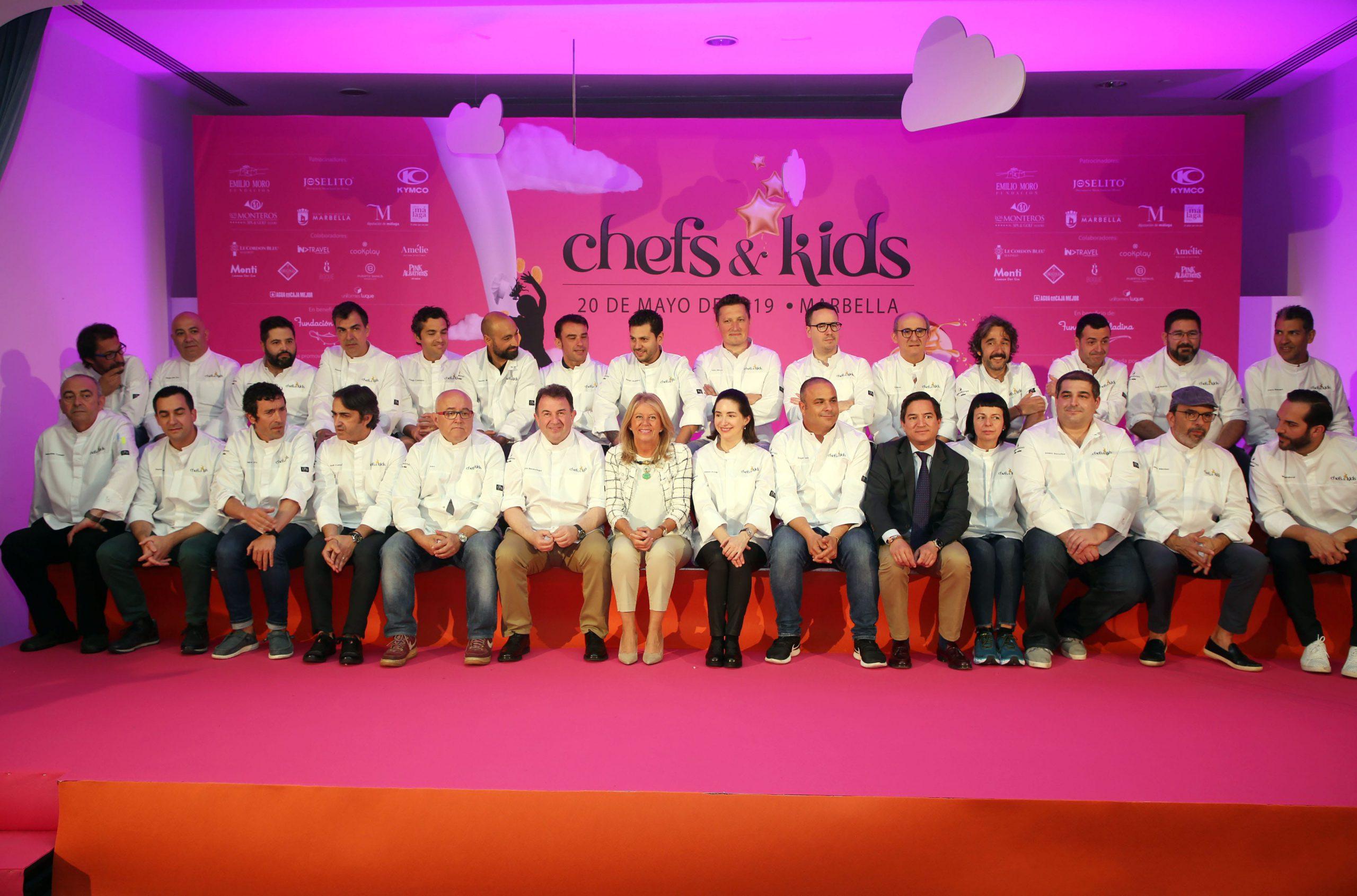 Un total de 27 cocineros con más de 40 Estrellas Michelin participan en Chefs&Kids