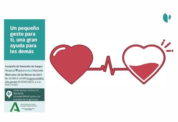 Jornada de donacion de sangre en el Hospital Quironsalud Marbella
