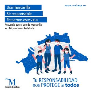 Usa mascarilla, Sé responsable, Frenemos este virus - Diputación de Málaga