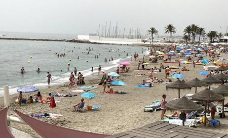 La playa de Venus en Marbella.