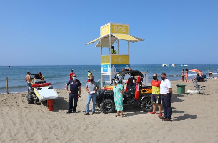 El equipo de seguridad de las playas ha respondido a más de 30.000 incidencias en lo que va de verano.