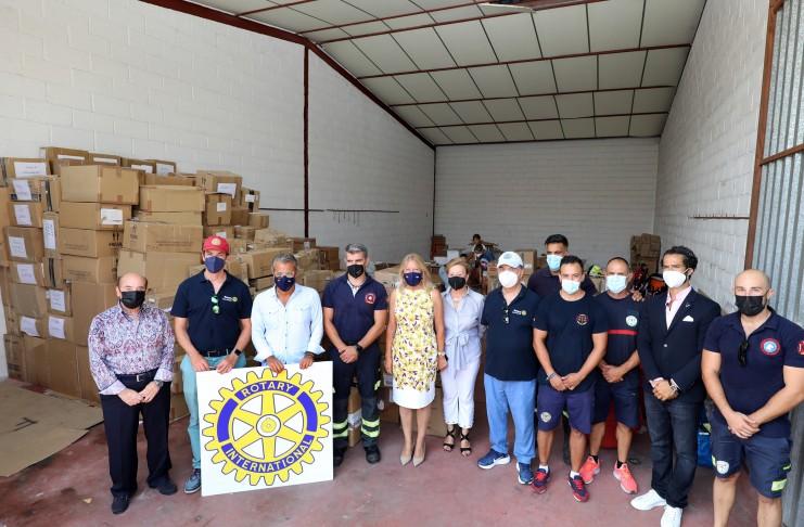 Los bomberos de Marbella apoyan un esfuerzo humanitario para llevar las necesidades esenciales y formar a los cadetes de bomberos libaneses.