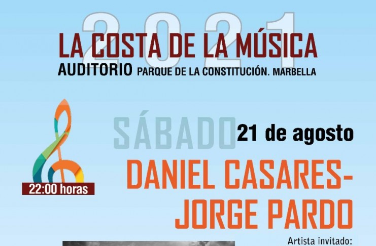 La pareja flamenca formada por el guitarrista Daniel Casares y el saxofonista Jorge Pardo actuará en el auditorio del Parque de la Constitución mañana y el sábado