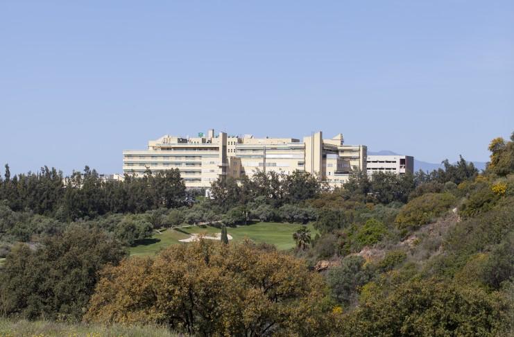 El Hospital Costa del Sol, ubicado en Marbella y referencia de la comarca en la lucha contra el Covid.