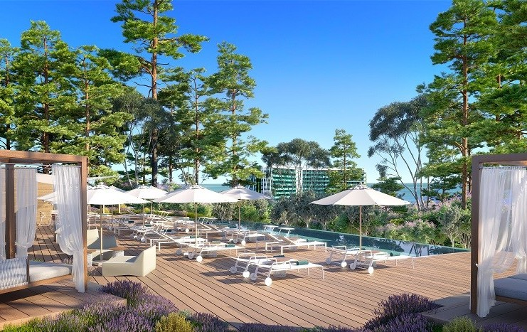 Recreación de Magna Marbella, en las antiguas dependencias del Hotel Don Miguel. FOTO// Club Med.